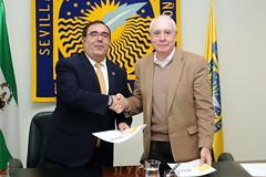 Vicente Guzmán y Francisco Marcellán firman un protocolo general de colaboración (UPO - Universidad Pablo de Olavide) Tags: rector vicenteguzmán convenio matemáticas