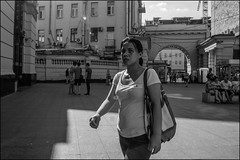 7_DSC6910 (dmitryzhkov) Tags: urban city everyday public place outdoor life human social stranger documentary photojournalism candid street dmitryryzhkov moscow russia streetphotography people man mankind humanity bw blackandwhite monochrome sun sunshine summer day