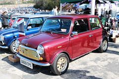 1989 Rover Mini G859CPG Brooklands Mini Day 2019 (davidseall) Tags: 1989 rover mini car g859cpg classic original old shape style great british red brooklands day march 2019 weybridge surrey uk