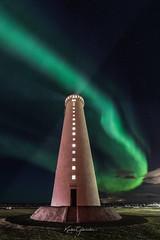 Lighthouse (Kjartan Guðmundur) Tags: iceland ísland lighthouse auroraborealis northernlights sky stars clouds nightscape norðurljós nocturne canoneos5dmarkiv sigma14mmf18art kjartanguðmundur