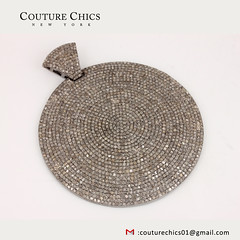 Natural Diamond Pave Oval Disc Charm Pendant Solid 925 Sterling Silver Handmade Jewelry (couturechics.facebook1) Tags: natural diamond pave oval disc charm pendant solid 925 sterling silver handmade jewelry