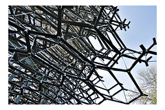The Hive. (tetleyboy) Tags: 500px aluminium art london frame architecture sculpture bee