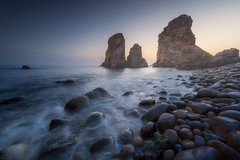 giants of the ocean (ALFONSO1979 ) Tags: new flickr sunset sunrise pink beautiful portugal explore winter summer beach really amazing world trees orange beauty coast rocks yellow sea scape