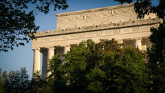 Putting It Back Together (BenBuildsLego) Tags: lincoln memorial sunset beautiful washington dc architecture neoclassical classical temple abraham 16x9 warm summer wallpaper