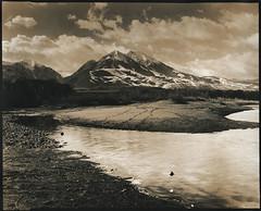 Emigrant Peak MT (micalngelo) Tags: analog filmphoto landscapephotography largeformatphotography chamonix8x10camera montana emigrantpeakmontana dagorlens ilfordhp5 yellowstoneriver