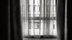 can't hold (Rino Alessandrini) Tags: window indoors architecture nopeople blackandwhite glassmaterial abstract reflection builtstructure urbanscene dark architectureandbuildings backgrounds interior curtain blurred room street transparencies