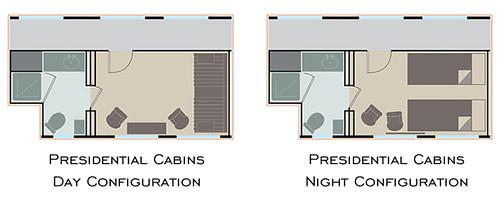 Eastern & Oriental Express Cabin Plan - Presidential