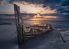 reclaimed...rs -6212 (P.E.T. shots) Tags: shipwreck ship forgotten decay sunset sea