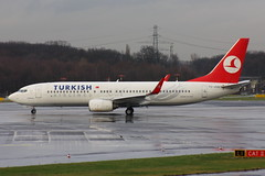 TURKISH AIRLINES TC-JGG Boeing 737-8F2 departure from Dusseldorf  DUS Germany bound for Istanbul ISL Turkey (Cupertino 707) Tags: turkish airlines tcjgg boeing 7378f2 departure from dusseldorf dus germany bound for istanbul isl turkey first flight date 22112005 11122005 thy turkishairlines named erzincan