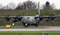 Marshalling (crusader752) Tags: raf royalairforce hercules c4 zh870 enginetesting marshalls cambridge