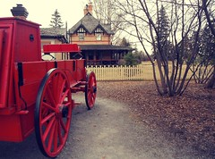 HTT (Mr. Happy Face - Peace :)) Tags: yyc bowvalley ranch 1880 art2019 history cowtown calgary albertabound canada red wagon spokes texturetuesdays treemendoustuesdays