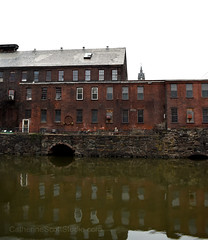 Holyoke Mill (Patinagal) Tags: industry mills brick canals windows water decay industrial history facade