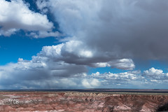 Front Moving In (gvbtom) Tags: petrifiedforestnationalpark arizona clouds desert landscape rockformations
