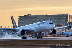 Lufthansa | Airbus A350-941 | D-AIXN (josephA_mtl) Tags: airport aircraft airplane aviation landing yul montreal trudeauairport planespotters planespotting sunset