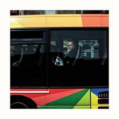 (The left eye photographer) Tags: rangefinder fujix100f snapshot thedecisivemoment corkcity ireland bus snapseed grandparadecorkcity