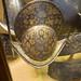 Gold decoration on fancy helmet