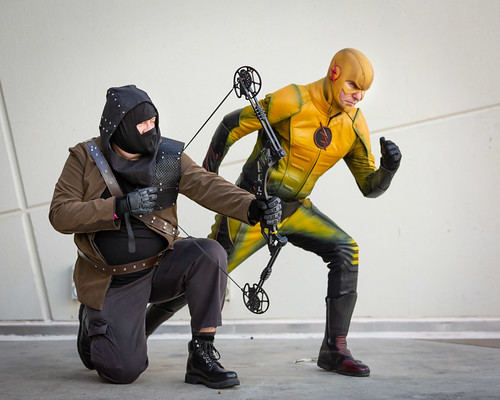 Malcolm Merlyn and Reverse Flash photo by Big George