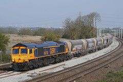 66732 15-04-19 (IanL2) Tags: gbrf class66 66732 wellingborough northamptonshire mml railways trains aggregates