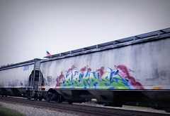 (timetomakethepasta) Tags: eskae wh stv freight train graffiti art grainer hopper gacx