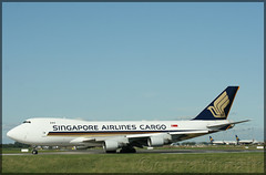 9V-SFA Boeing 747-412(F) Singapore Airlines Cargo (elevationair ✈) Tags: dub eidw dublin airport dublinairport ireland sun sunny sunshine avgeek aviation airplane plane aircraft jumbo jumbojet 4holer sia freighter cargo singaporeairlinescargo boeing 747 744 boeing747412f 9vsfa