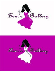 Logo for Fem's Gallery (zarin.t) Tags: logo design dress shop cloth gilrs girly fem fems female store product graphic graphicdesign