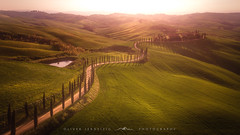[ planet earth ] (Oliver Jerneizig) Tags: oliverjerneizigde wwwoliverjerneizigde oliverjerneizig italien italy italia toskana tuscany südtirol southtyrol tyrol sunset longexposure landscape landschaft canon 6d canon6d2 6dmark2 drohne drone mavic air dji zypressen cypress sunrise green hills curves lines
