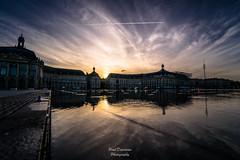 Dark BDX (PaaulDvD) Tags: bordeaux city gironde aquitaine france colors reflet sun sunset blue urbanscape cityscape