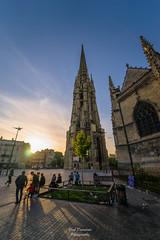 Place Publique (PaaulDvD) Tags: bordeaux city gironde aquitaine france colors reflet sun sunset blue urbanscape cityscape