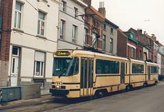 STIB-T55-3215-7943-04-12-1993 (phi5104) Tags: trams belgië belgique brussel bruxelles mivb stib ligne55
