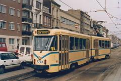 STIB-T55-2592-7724-19-03-1992 (phi5104) Tags: trams belgië belgique brussel bruxelles mivb stib ligne55