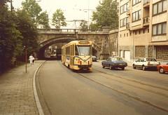 STIB-T55-0275-7725-07-08-1985 (phi5104) Tags: trams belgië belgique brussel bruxelles mivb stib ligne55