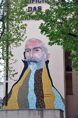 Famalicão (Portugal) - street art (jaime.silva) Tags: famalicão acasaaolado portugal portugalia portugalsko portugália portugalija portugali portugale portugalsk portogallo portugalska portúgal portugāle painting paint bernardinomachado spraypaint spraypainting muralpainting spray mural pinturamural streetart streetartist street graffiti graf urban urbanart arteurbana