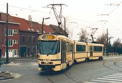 STIB-T55-3220-7901-04-12-1993 (phi5104) Tags: trams belgië belgique brussel bruxelles mivb stib ligne55