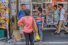 Conversation (Beegee49) Tags: street people standing discussing hd happy planet luminar sony bacolod city philippines asia happyplanet asiafavorites