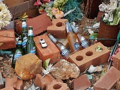 Bricks and Beers (mikecogh) Tags: southausralia lincolngap grave informal roadside michaeljames bricks beers