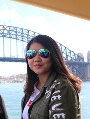 Sydney Harbour bridge (Poytr) Tags: sydneyharbourbridge sydneyaustralia nsw teenager teen beautifulwoman beauty beautiful girl chinesegirl chinagirl asianbeauty sunglasses lips prettyface