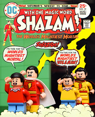 Shazam No.19 (1974) (Andrew Cookston) Tags: lego dc comics shazam billybatson zazzo zazzoplus fawcett city superhero custom diamond bricks moc red yellow blue green macro toy still life photography andrew cookston andrewcookston
