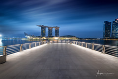Early Morning At Marina Bay (Alec Lux) Tags: sands singapore architecture bay blue bluehour building buildings city cityscape design exterior facade golden goldenhour haida haidafilters lights longexposure marina modern outdoor outside skyline skyscraper tower urban water
