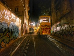 Lisbon by night (peterileypics) Tags: portugal lisbon tram night