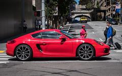 (seua_yai) Tags: northamerica california sanfrancisco thecity wheels transportation street seuayai sanfrancisco2019 car automobile german porsche cayman red