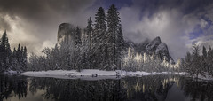 A Moment On The River (WJMcIntosh) Tags: yosemite yosemitenationalpark winter snow mercedriver elcapitan threebrothers