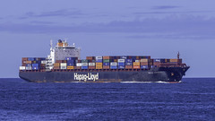 SEOUL EXPRESS seen here entering Botany Bay just south of Sydney, Australia (Paul Leader - Paulie's Time Off Photography) Tags: boat botanybay built2000 callsigndhbn containership hapaglloyd imo9193305 mmsi211331640 seoulexpress ship olympus olympusem10 paulleader vessel harbour ferry cruise cruiseship holiday tourist passenger transportation transport navy warship starboard stern bow craft berth mooring stevedore captain crew handle diesel engine draft beam length ocean sea deck route gangway plank forward