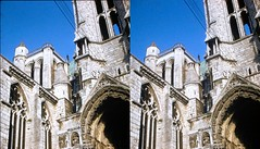 Batch E 0121 (dizzygum) Tags: vintage stereo 3d slide image france chartres cathedral 1960