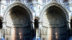 Batch E 0120 (dizzygum) Tags: vintage stereo 3d slide image france chartres cathedral 1960