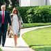 President Trump and First Lady Melania Trump Walk to Marine One