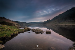 Llyn Geirionydd (Mark Palombella Hart) Tags: nature landscape beautiful clouds scenic tourism wales photographer photooftheday potd photo hills rivers streams rocks sky sunset path stonewall mountains lake quarry slate mine historic snowdonia trees farm cottage