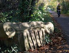 sjb-8-miles.jpg (Stephen.Bingham) Tags: bristolandbathrailwaypath bath milestone ionic roman bike cycling ccbysa creativecommons attributionsharealike