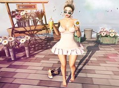 Here we go.. (Sistine Kristan (Sisely) - Toolbox Chicks) Tags: spring flair kaithleen mesh blog photography sl ks backdrop summer icecream kokoro pose daisy daisies artisan fantasy elle boutique vibing
