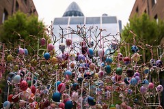 London's Devonshire Square Easter Tree (Patrizia Ilaria Sechi) Tags: easterinlondon eastereggs devonshiresquare dsqeastertree london cityoflondon artistic installations wework devonshire square colorful paintedeggs charity honeypotchildrenscharity traditions colourfulcities joyful springtime