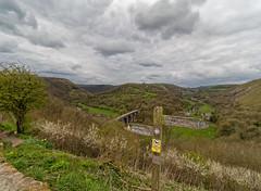 Which way? (S.K.1963) Tags: derbyshire peak district landscape bridge sign path valley clouds sky olympus omd em1 mkii 714mm 22 pro